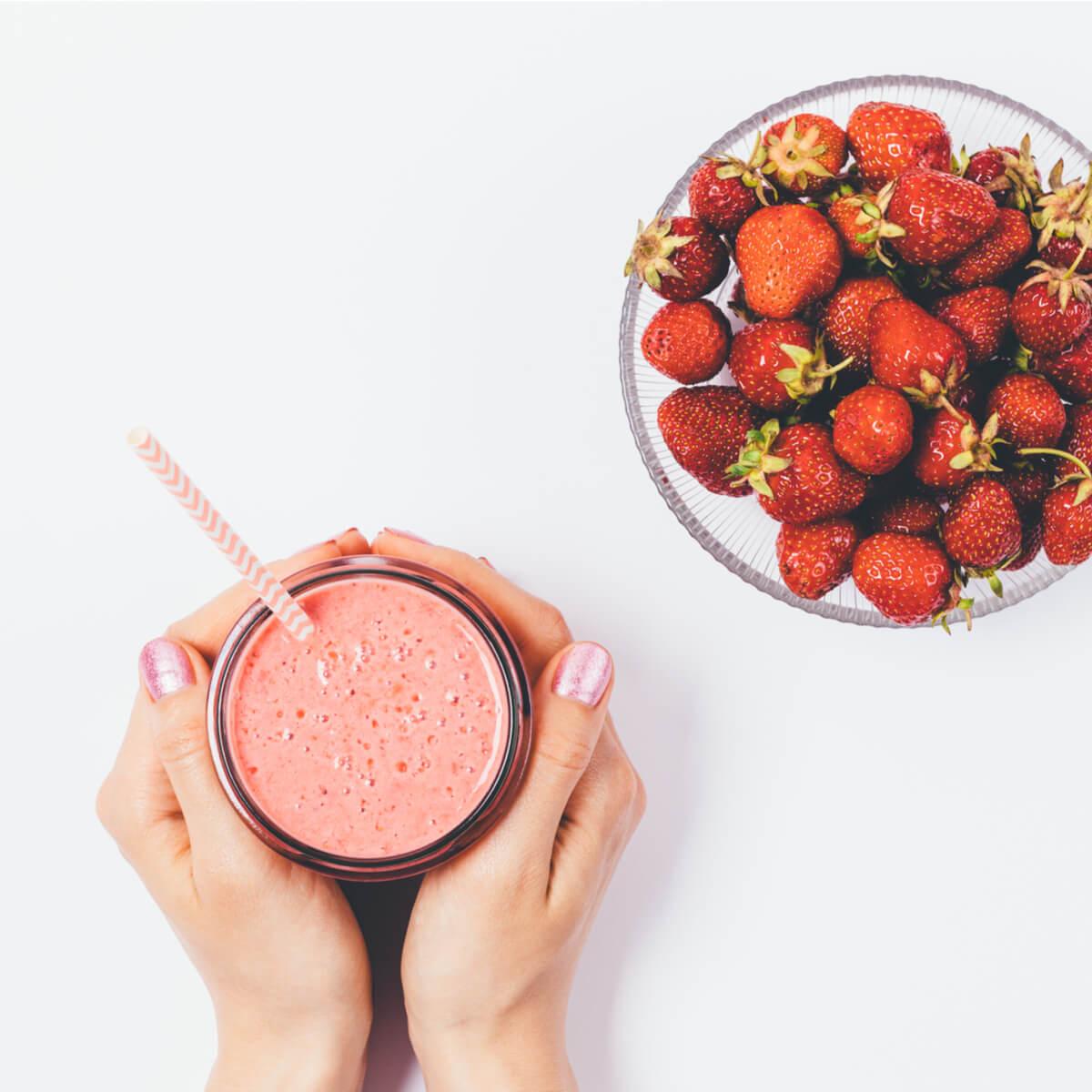 Strawberry and Avocado Smoothie